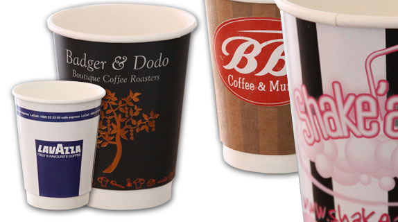 Coffee to go Papier-Becher und Pappbecher